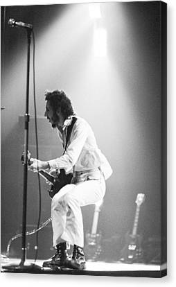 The Who's Pete Townshend 1972 Canvas Print by Chris Walter