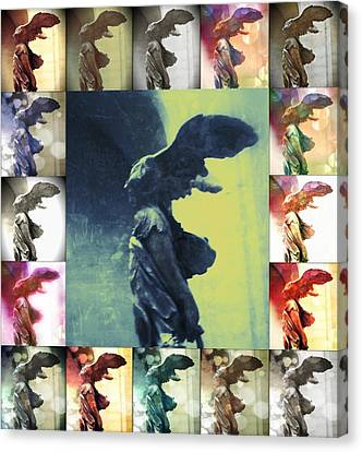 The Winged Victory - Paris - Louvre Canvas Print by Marianna Mills
