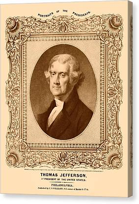 Thomas Jefferson Canvas Print by War Is Hell Store
