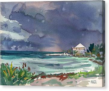 Thunderstorm Over Key West Canvas Print by Donald Maier