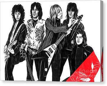 Tom Petty And The Heartbreakers Collection Canvas Print by Marvin Blaine