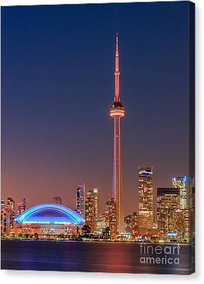 Toronto Skyline After Sunset Canvas Print by Henk Meijer Photography