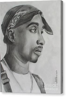 Tupac Canvas Print by Cheryl Riley