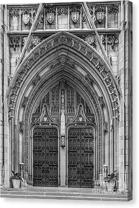 University Of Pittsburgh Heinz Memorial Chapel Canvas Print by University Icons