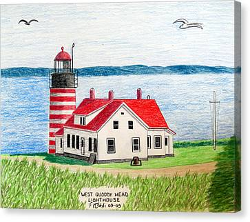 West Quoddy Head Lighthouse Canvas Print by Frederic Kohli