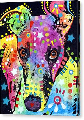 Whippet Canvas Print by Dean Russo