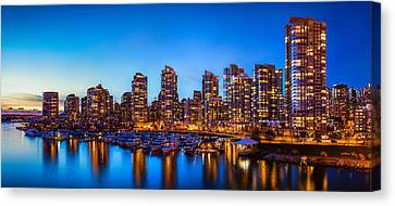 Yaletown From Cambie Bridge Canvas Print by Alexis Birkill
