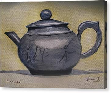 Yixing Teapot Canvas Print by Jean Billsdon