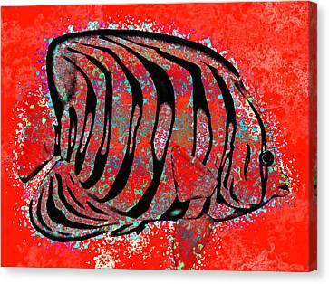Underwater. Fish. Canvas Print by Elena Kosvincheva