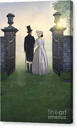 Victorian Couple  Canvas Print by Lee Avison