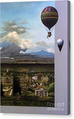 200 Years Of Ballooning Canvas Print by Jane Whiting Chrzanoska