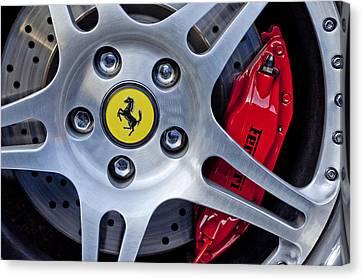 2000 Ferrari Wheel Canvas Print by Jill Reger