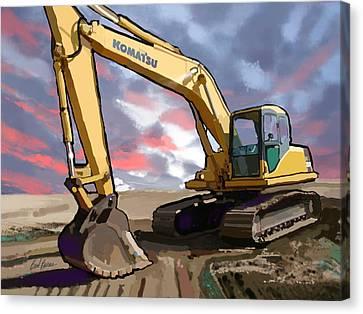 2004 Komatsu Pc200lc-7 Track Excavator Canvas Print by Brad Burns
