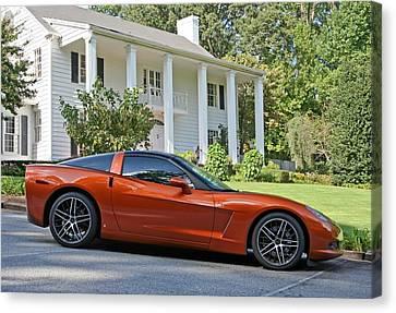 2005 Corvette C6 Canvas Print by John Black