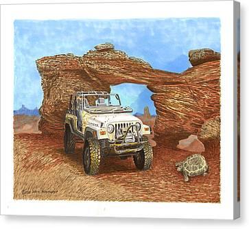 2005 Jeep Rubicon 4 Wheeler Canvas Print by Jack Pumphrey