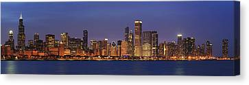2010 Chicago Skyline Canvas Print by Donald Schwartz