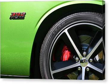 2011 Dodge Challenger Srt8 392 Hemi Green With Envy Canvas Print by Gordon Dean II