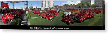 2016 Boston University Commencement Canvas Print by Juergen Roth