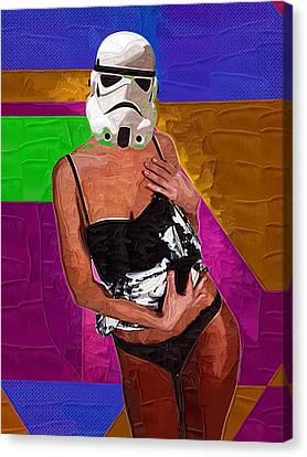 Storm Trooper Canvas Print by Michael Vicin