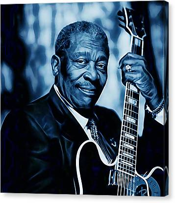 Bb King Collection Canvas Print by Marvin Blaine