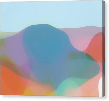 Translucent Abstractions Series Canvas Print by Ricki Mountain