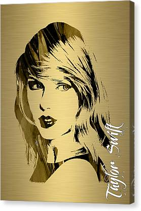 Taylor Swift Collection Canvas Print by Marvin Blaine