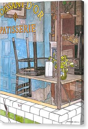 29  Croissant D'or Patisserie Canvas Print by John Boles