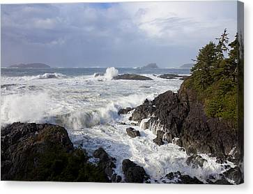 A Stormy Morning On The Wild West Coast Canvas Print by Taylor S. Kennedy