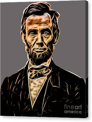Abraham Lincoln Collection Canvas Print by Marvin Blaine