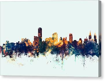 Adelaide Australia Skyline Canvas Print by Michael Tompsett
