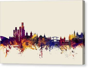 Amsterdam The Netherlands Skyline Canvas Print by Michael Tompsett