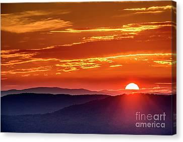 Autumn Equinox Sunrise Canvas Print by Thomas R Fletcher