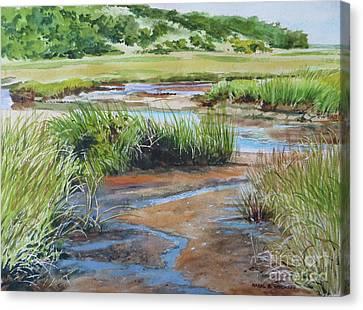 Bayside Marsh Canvas Print by Karol Wyckoff