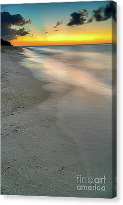 Sunset At The Beach Canvas Print by Adrian Evans