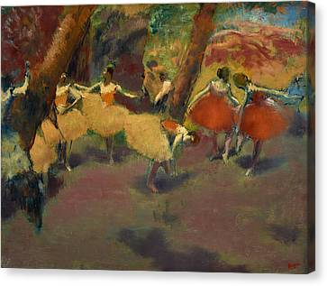 Before The Performance Canvas Print by Edgar Degas