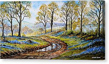 Bluebells In The New Forest Canvas Print by Andrew Read