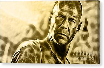Bruce Willis Collection Canvas Print by Marvin Blaine