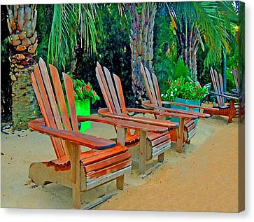 3 Chairs  Canvas Print by Michael Thomas