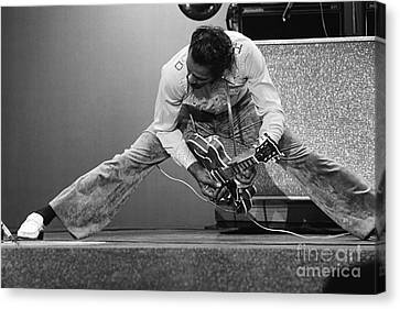 Chuck Berry Canvas Print by Terry O'Neill