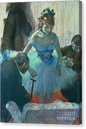 Dancer In Her Dressing Room Canvas Print by MotionAge Designs