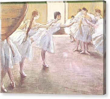 Dancers At Rehearsal Canvas Print by MotionAge Designs