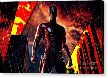 Daredevil Collection Canvas Print by Marvin Blaine