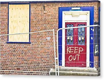 Demolition Site Canvas Print by Tom Gowanlock