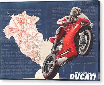 Ducati Panigale Canvas Print by Yurdaer Bes