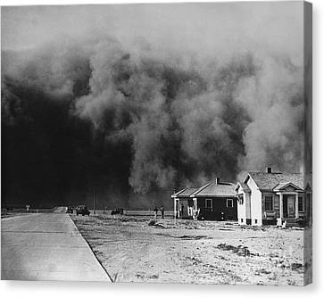 Dust Storm 1930s Canvas Print by Omikron
