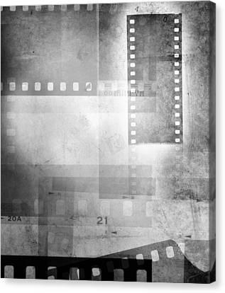 Film Negatives Canvas Print by Les Cunliffe