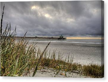 Folly Beach Pier  Canvas Print by Dustin K Ryan