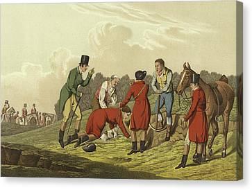 Hunting Scene Canvas Print by Henry Thomas Alken