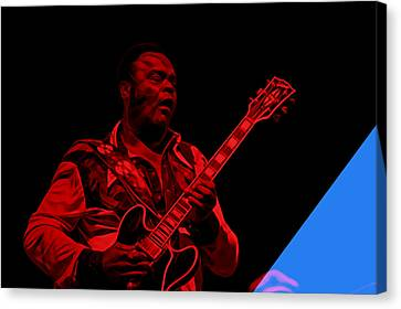 Freddie King Collection Canvas Print by Marvin Blaine