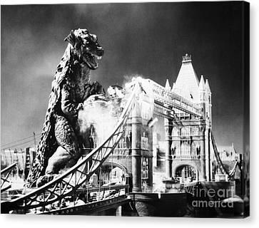 Godzilla Canvas Print by Granger